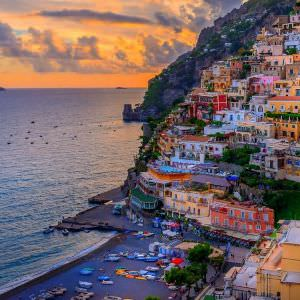Just another gorgeous sunset overlooking Positano, Italy