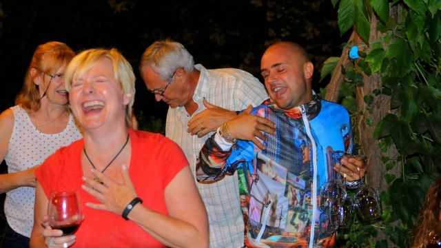 A Party night in the Colli Bolognesi! A night of great wines, good food and very funny people