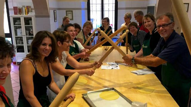 We have a lot of fun during our cooking class in Bologna and Emilia Romagna.