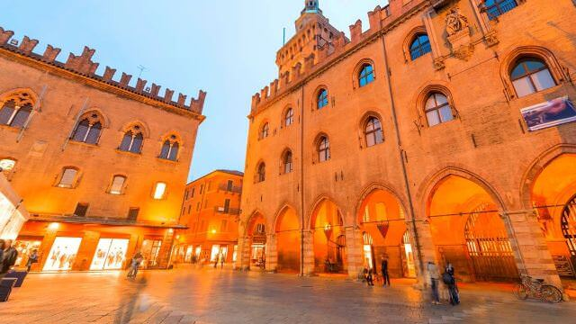 Bologna is a vibrant and bustling city full of arts, shopping, cafes, and music.