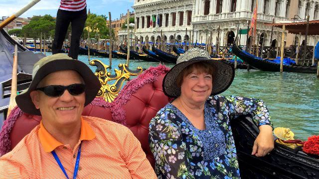 We take a private ride on a gondola through the iconic and romantic venetian canals.