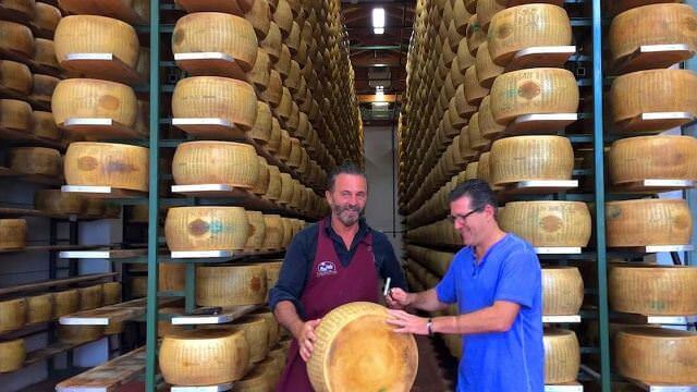 In Emilia Romagna we visit a local small Parmigiano Producer and taste and learn all about the popular cheese