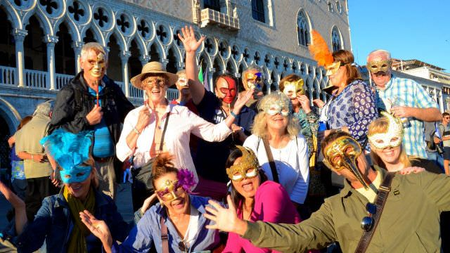 Carnival in Venice is an incredible event. Masks and costumes are worn by all the attendees and is popular worldwide