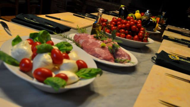 A shot of our locally produced ingredients we use for our hands-on cooking class experiences in Chianti