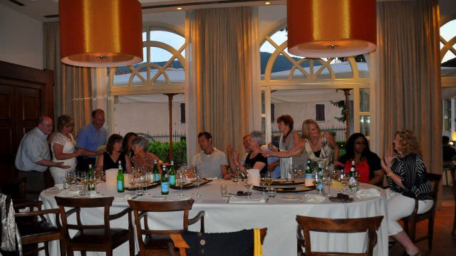 The Michelin star dinner we are treated to in Norcia is a wonderful culinary experience