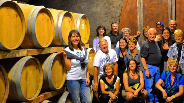 The winery tour in our Umbrian vacation includes an in-depth Sagrantino wine tasting experience