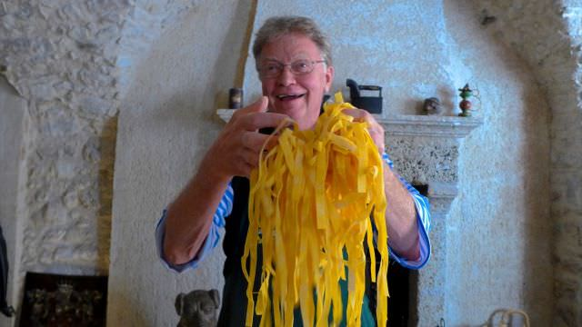 Fresh pasta during our Norcia cooking class it's made only of flavour and local eggs. The traditional recipe