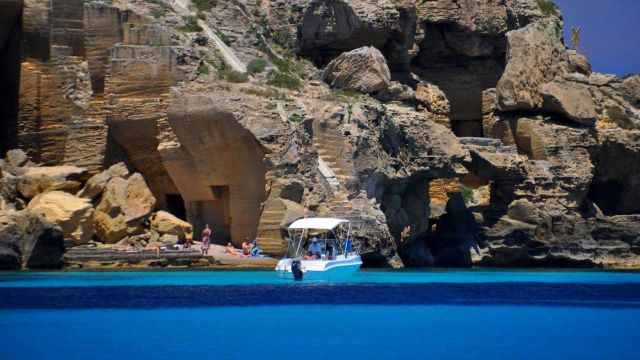 We explore coves and grottos on our Favignana, Sicily cooking and wine Vacations in Italy.