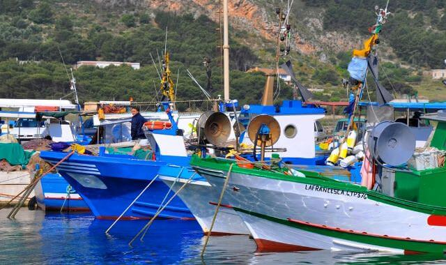 Pulling in to the harbor in Marettimo, Sicily, we are greeted by a fleet of sleek, private fishing boats.