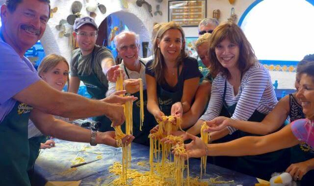 On all our Italian cooking vacations we make fresh pasta in one form or another. Pastas are typically regional recipes.