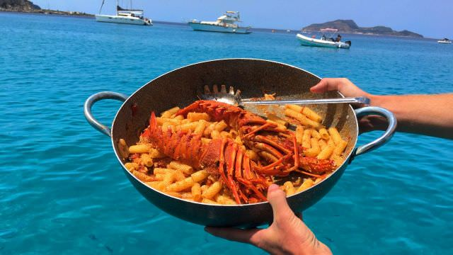 We never know what we're going to reel-in from the sea. This time it was lobster! So, lets make pasta!