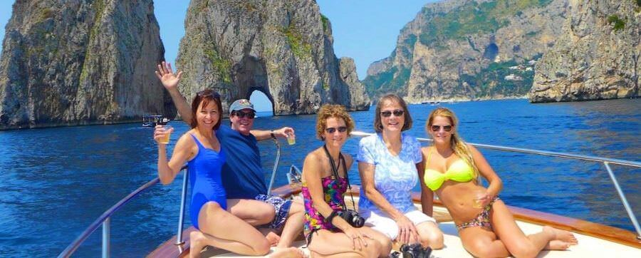 Capri on a private Boat