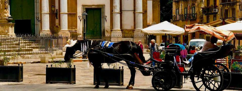 Hoorse and carriage in Palermo