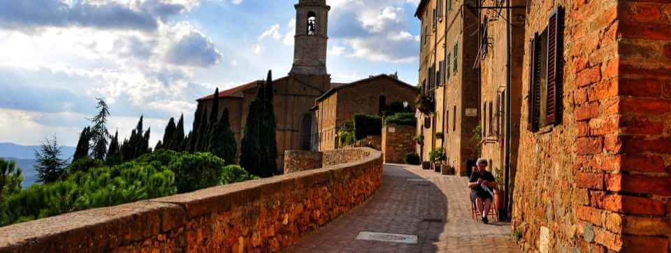 The beautiful Tuscan village of Pienza, Italy