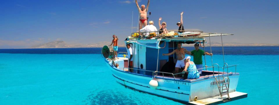 Boating in Crystaline waters of Sicily