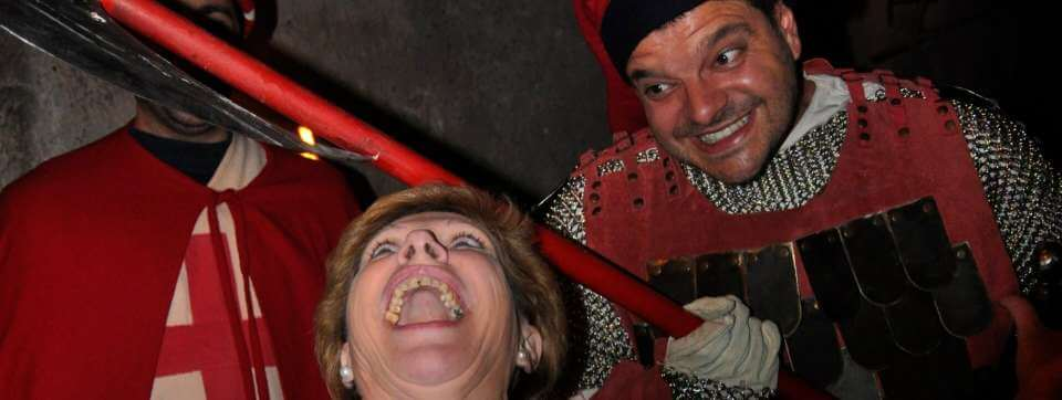 Getting into character at the medieval chestnut festival